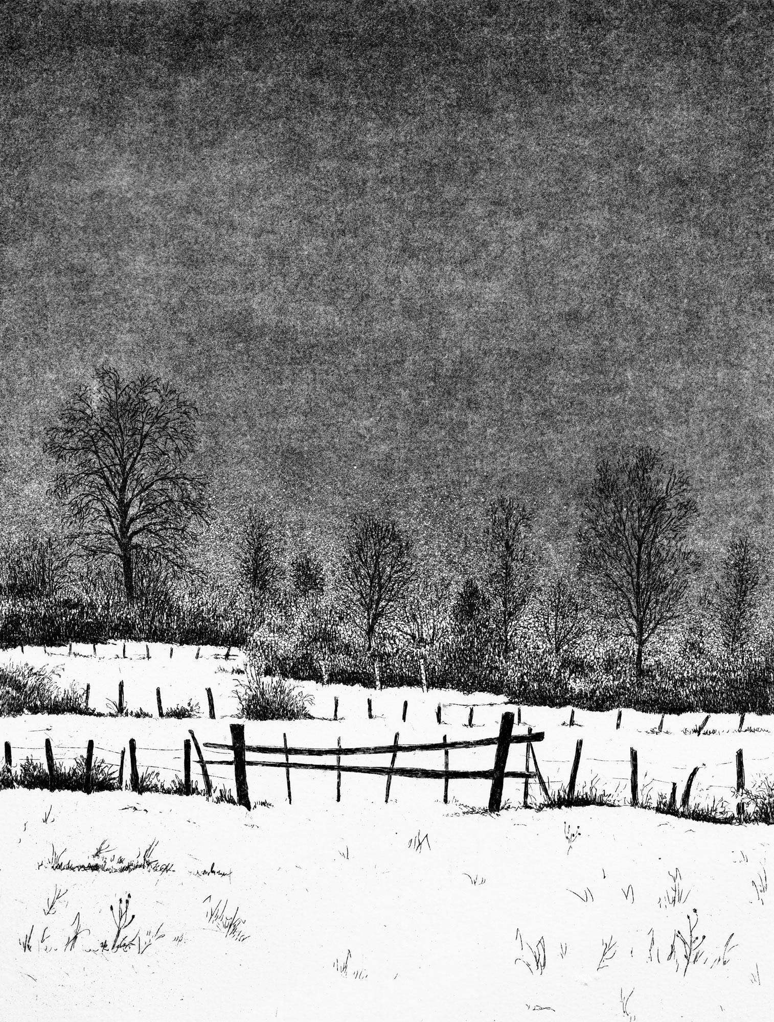 Neige sur le Marais