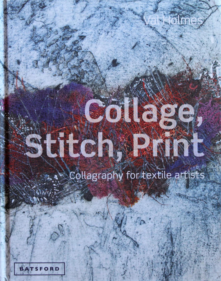 Print with collage and stitch techniques for mixed-media