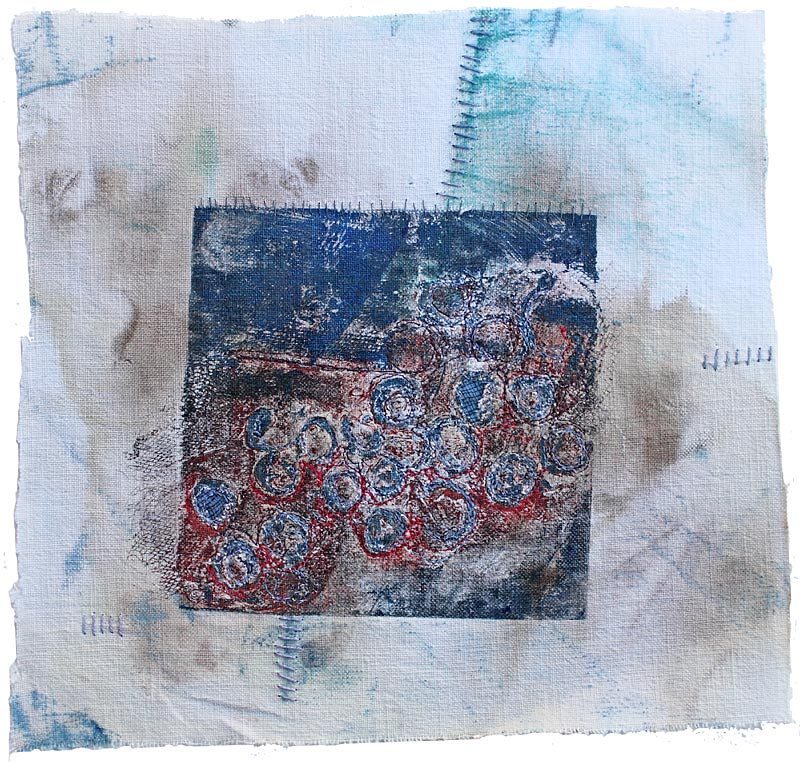 collagraphy printing on textiles and paper